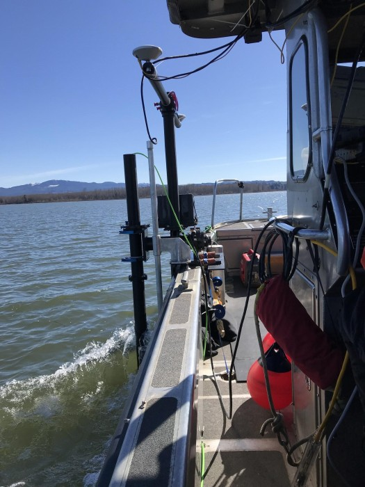 Data collection in the Mott Basin aboard the USCG Trailerable Aids to Navigation Boat (TANB) vessel