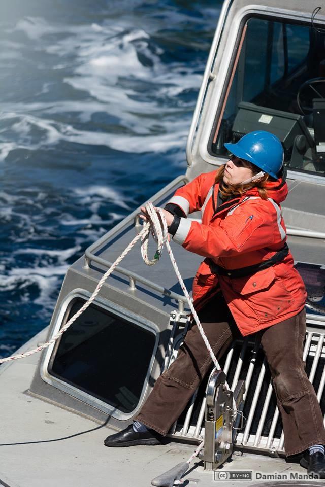 Starla Robinson served as a crew member on the NOAA Ship Rainier. Photo credit: Lt. Damian Manda, NOAA Corps